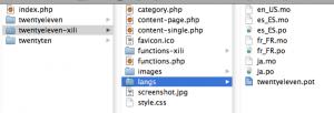 2011 theme folders